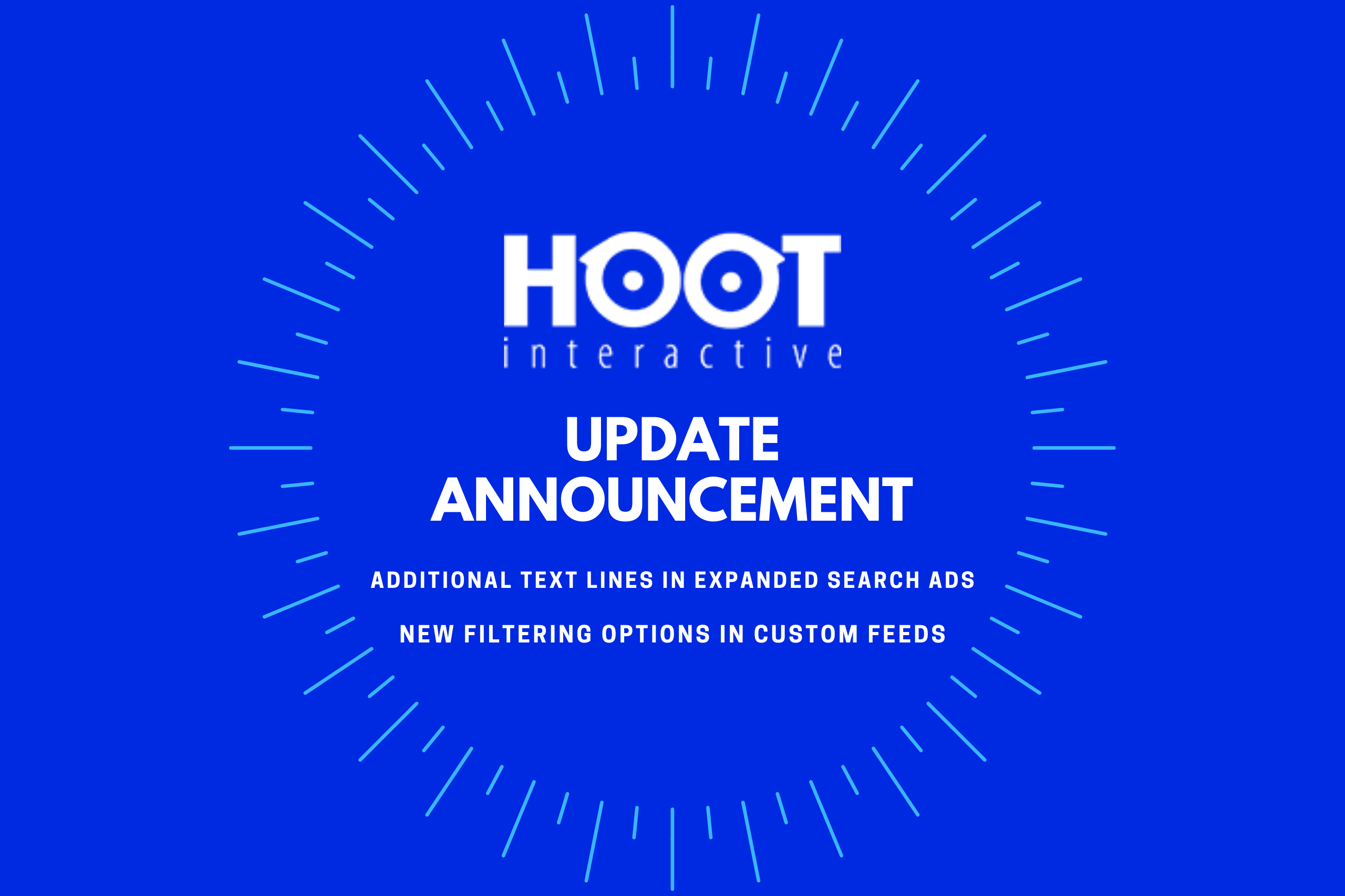 Hoot Update Announcement - Additional Text Links for Search Ads